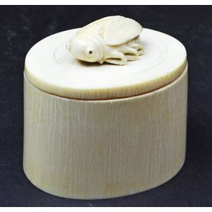 72be9bacfc7d carved Chinese ivory boxes - price guide and values