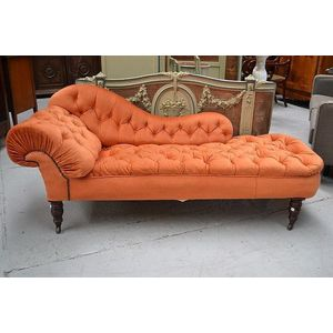 Chaise Longue - Carter's Price Guide to Antiques and Collectables on antique sofas, antique chair, antique daybed, antique fainting couch, antique parasol, antique chalice, antique french country, antique fountain, antique books, antique armchairs, antique recliner, antique fabric, antique glider, antique dresser, antique commode, antique egg, antique chaise lounge, antique chaise couch, antique lighting, antique beds,