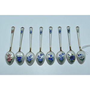 Vintage T H Martinsen Norway Sterling Silver Twist Stemmed Spoons.
