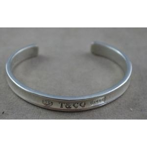 21b403e7a Silver Tiffany & Co bangle, marked T & Co, 925, design 1837, open bangle.  Show 10 more like this