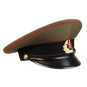 bf97fa99d4f Soviet army items consisting of a Soviet army armour artillery EM NCO  service Visor cap used by troops in the 1969-1991 period. Has red piping