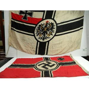 vintage national and military related flags - price guide