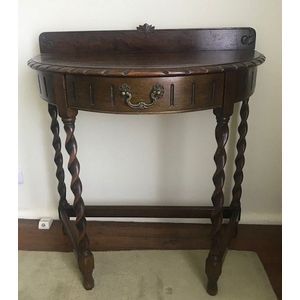 A Victorian Oak Demi Lune Hall Table (on Site In Mosman), 83 X 78 X 45 Cm.  Show 5 More Like This