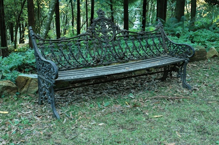 Victorian cast iron garden bench with timber slats - Victorian Cast Iron Garden Bench With Timber Slats - Decorative