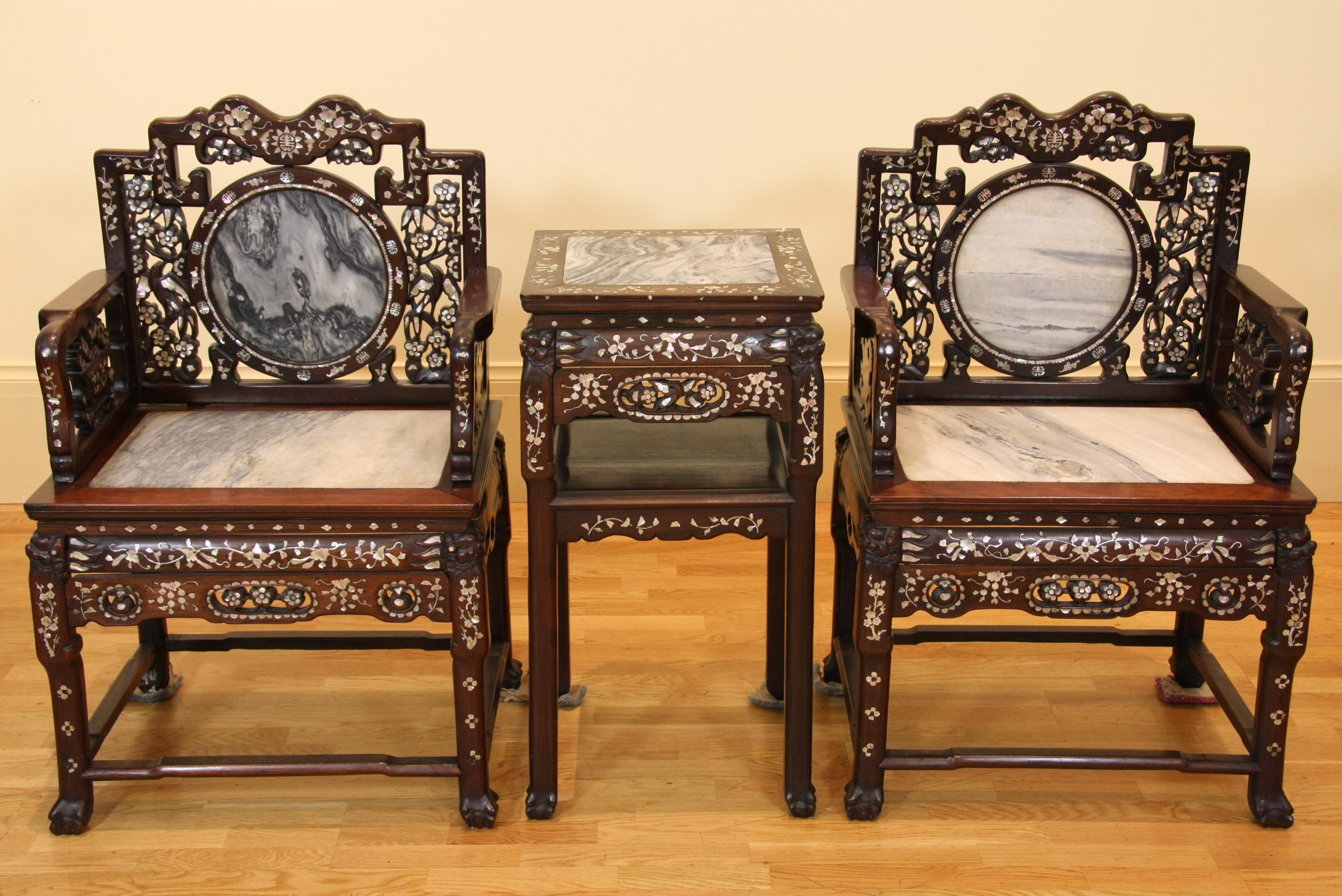 Pair Of Rosewood Chairs From The Qing Dynasty 1644 1912
