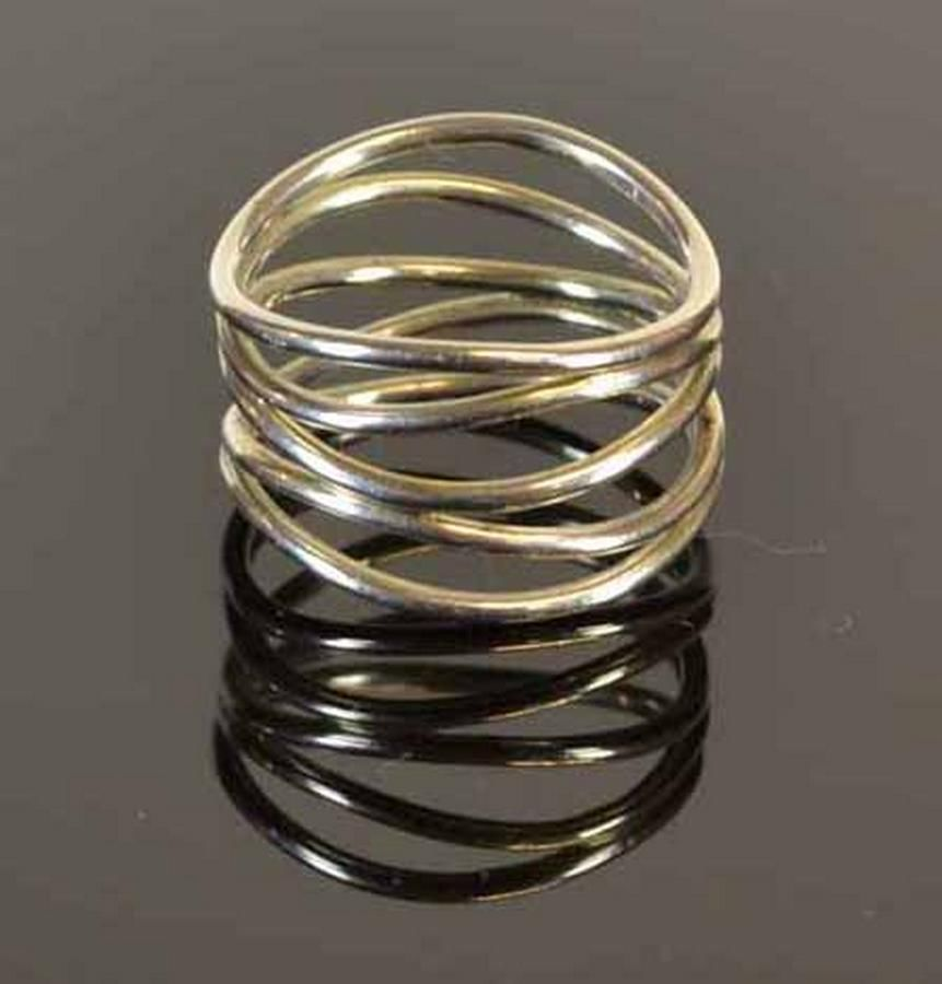b7ea781c0 Tiffany & Co. Elsa Peretti wave five-row ring in sterling… - Rings ...