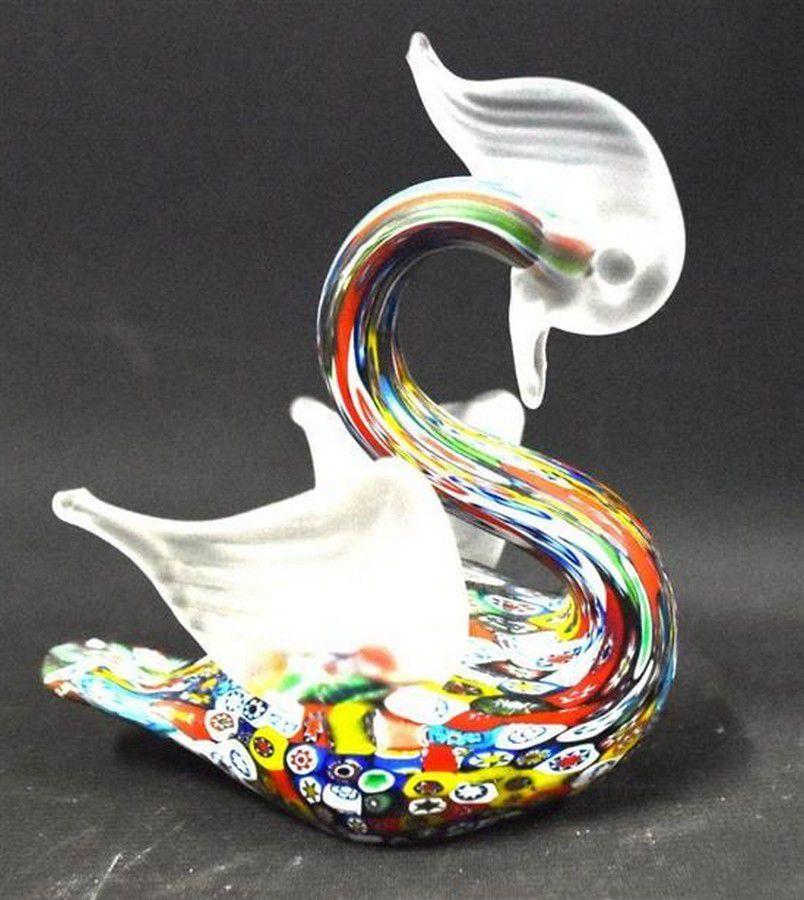 A Murano Glass Swan Venetian, Murano Glass Swan