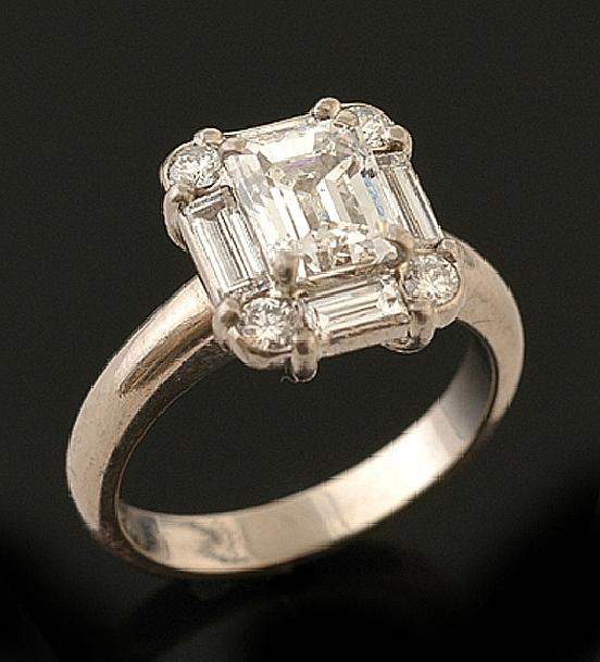 an emerald cut cluster ring the emerald cut