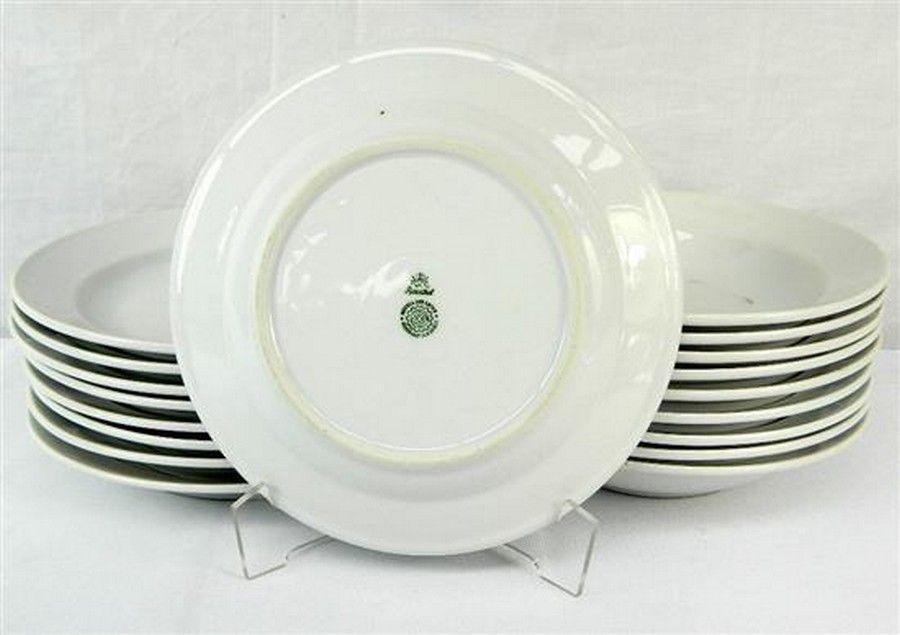 Eighteen World War II German Soup Bowls each marked