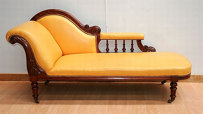 A 19th Century Australian Cedar And Leather Upholstered