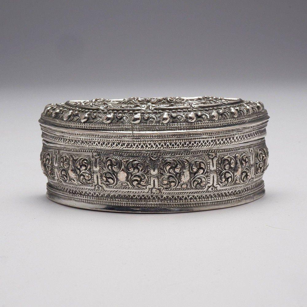 Semi Circular Silver Box
