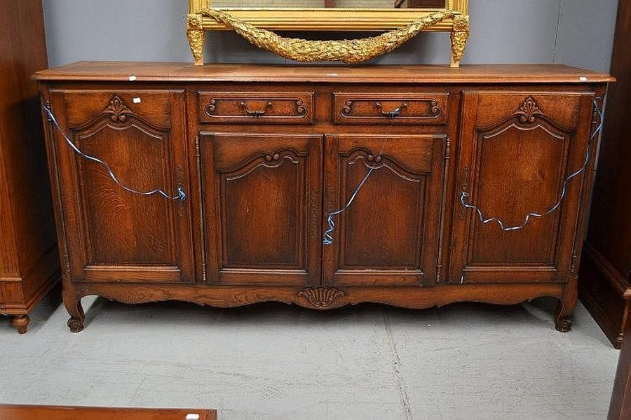 Vintage french louis xv style oak four door enfilade buffet cabinets amp - Buffet enfilade vintage ...