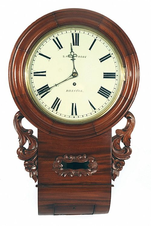 A Victorian Mahogany Wall Clock English 62 X 43 Cm Paper