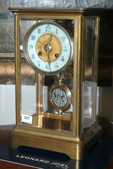 A Four Glass Mantel Clock Signed Bailey Banks Biddle Clocks Mantle And Shelf Horology Clocks Watches
