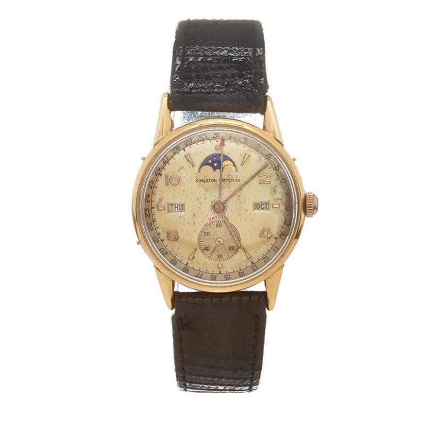 A vintage Swiss 'Kingston' Watch Co  calendar wristwatch, c