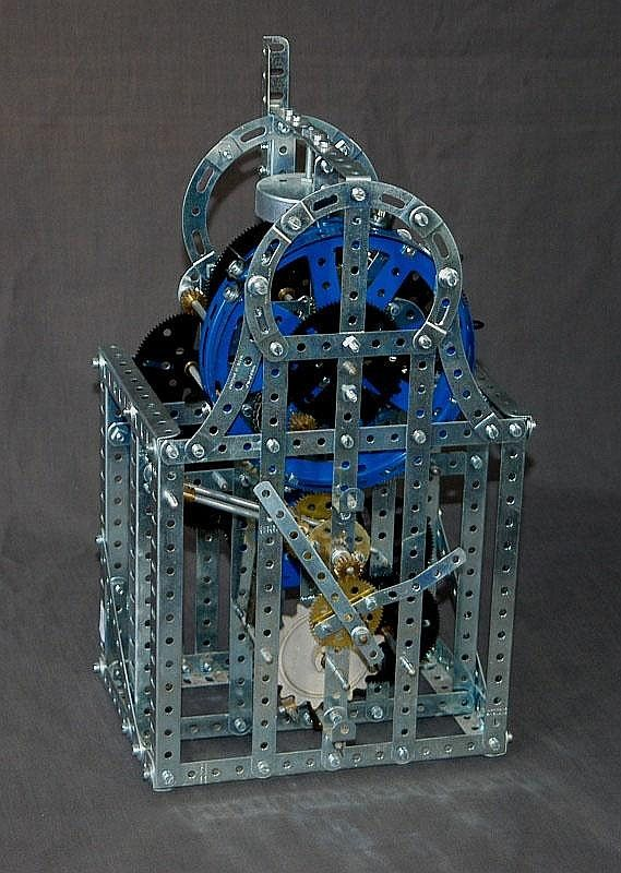 Meccano chiming clock  Complete chiming mechanism except for