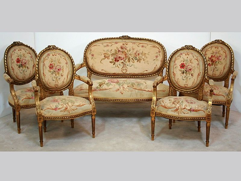 Salon Style Louis 16 a 19th century french louis xvi style water gilded salon suite