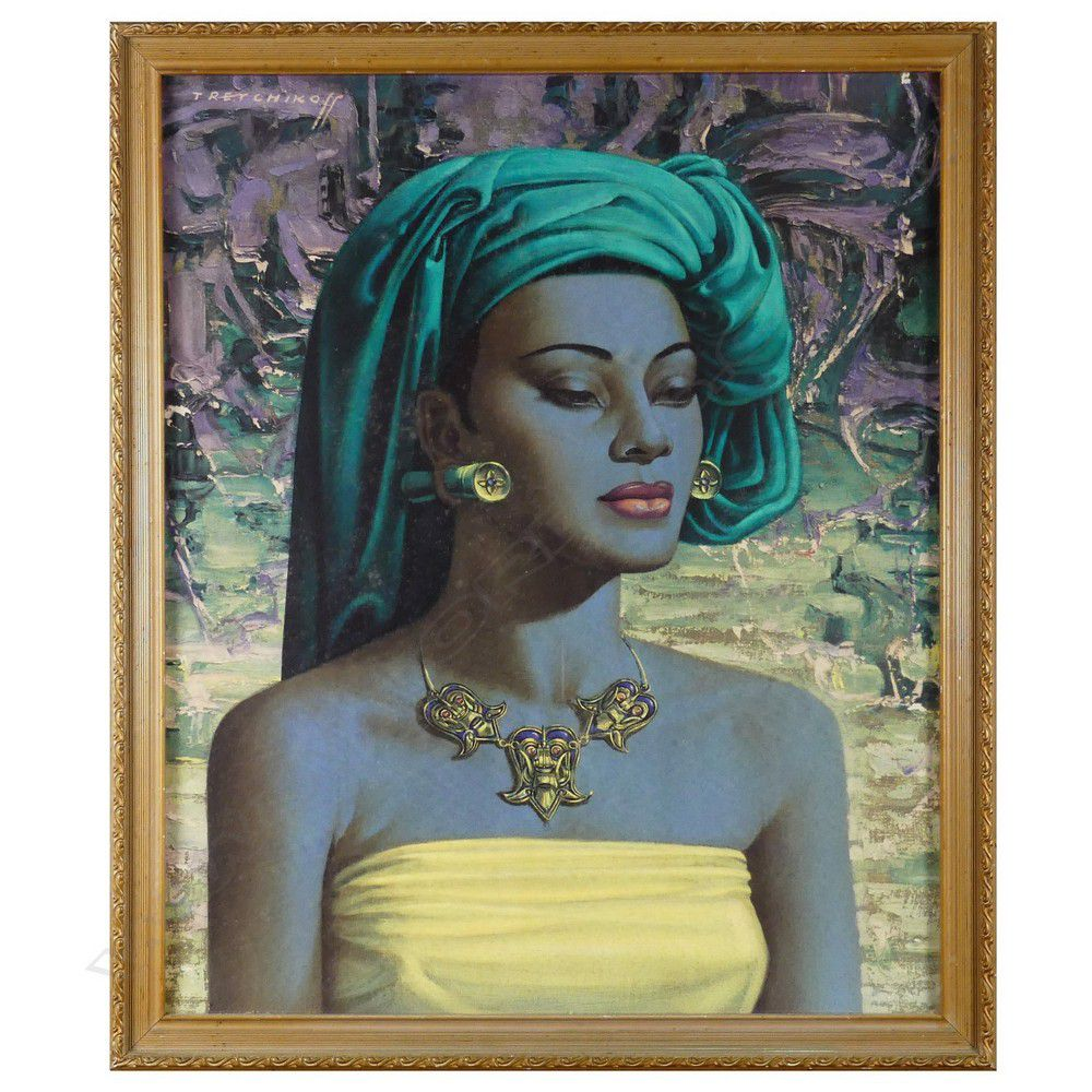 Picture Abstract Art Balinese Girl by Vladimir Tretchikoff Framed Print