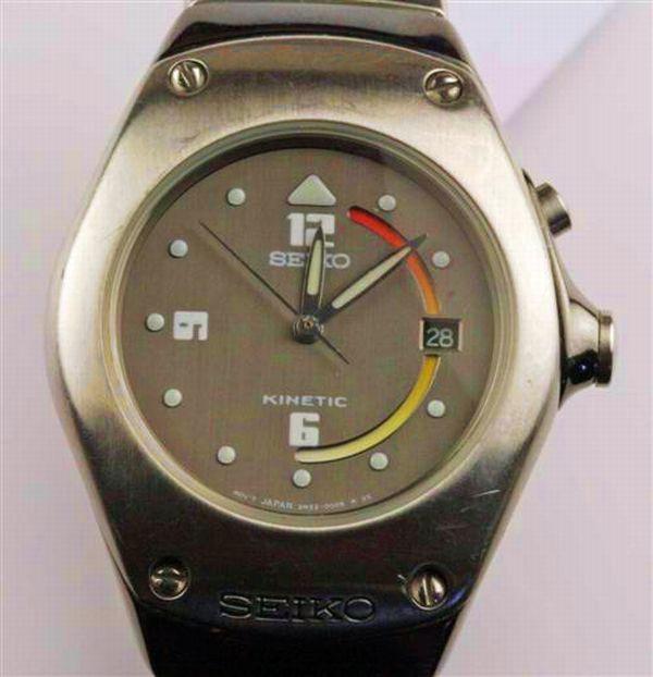 A Seiko Kinetic wrist watch