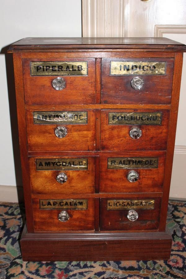 Mahogany 6 drawer shop cabinet, 70 cm high, 48 cm wide, 25 ...