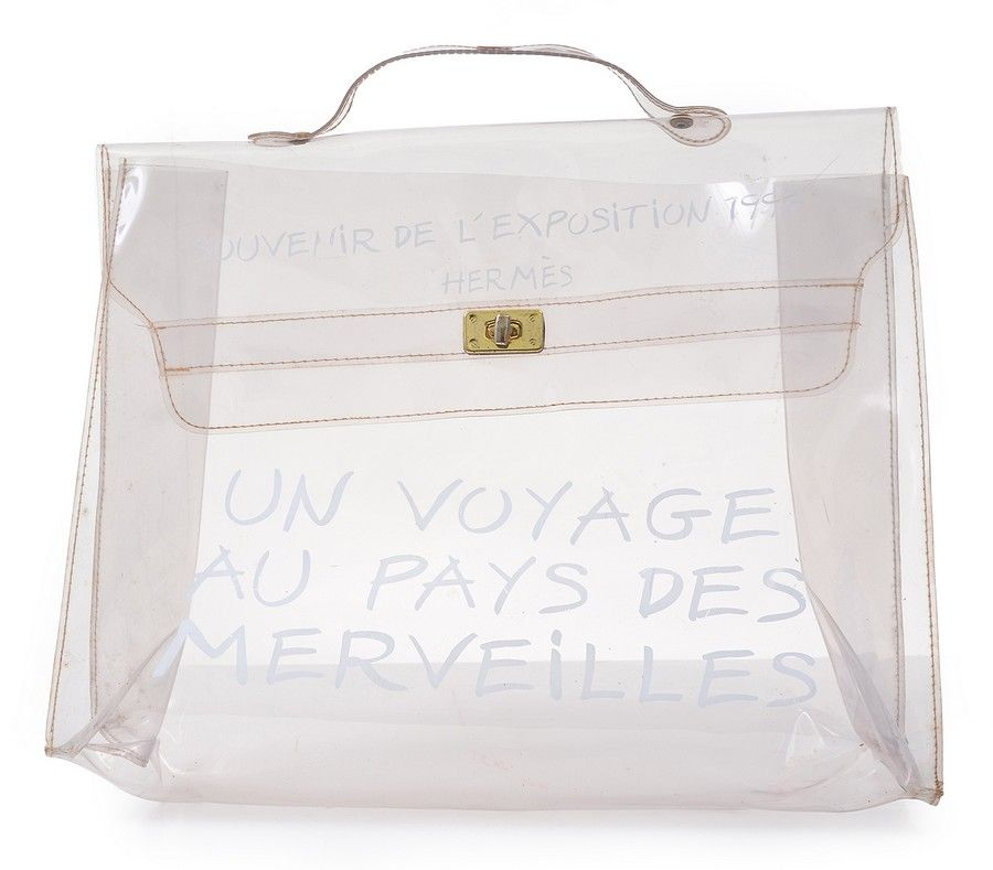 6f77bb9b09de A limited edition Transparent vinyl Kelly bag by Hermes