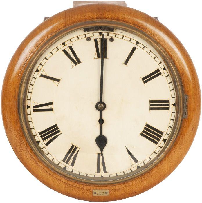 Vr Railway Clock A Circular Pendulum Wall Clock With