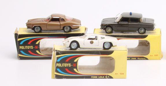 Three boxed Politoys (Italian)