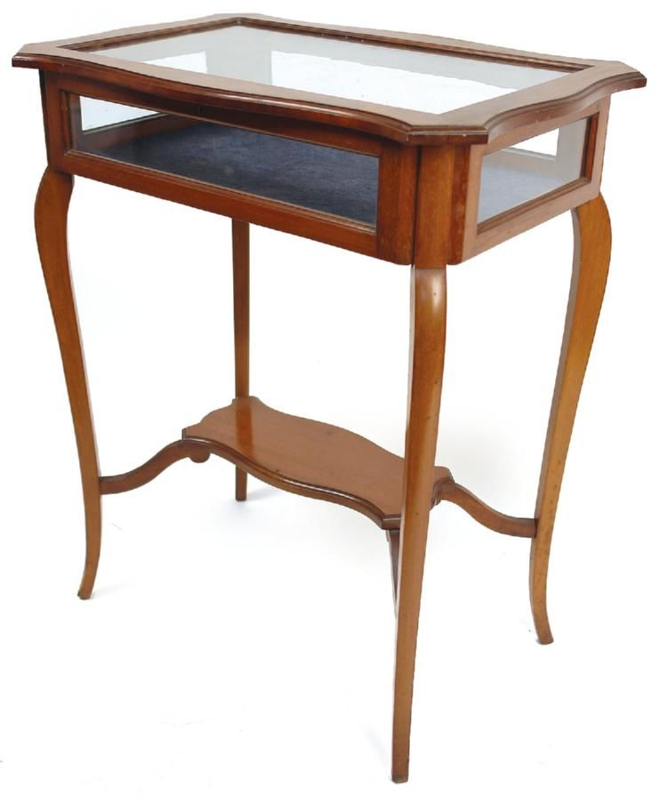 An Edwardian mahogany vitrine display table of rectangular…  Tables  Furnit -> Table Centrale Vitrine