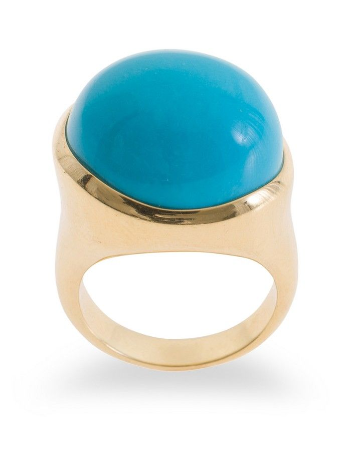 026728c5a A turquoise dress ring by Tiffany & Co, from the Elsa Peretti ...