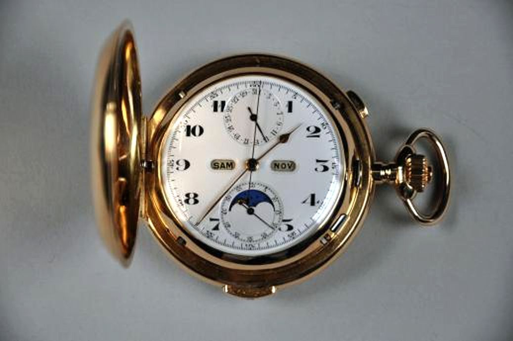 a swiss 18 carat gold repeating pocket