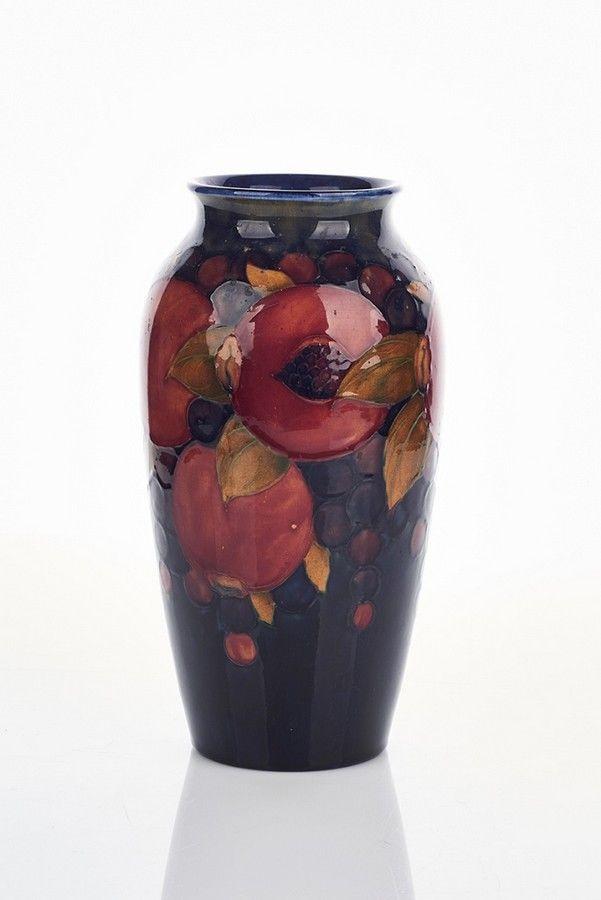 William Moorcroft Vase C 1920 Pomegranate Pattern Moorcroft