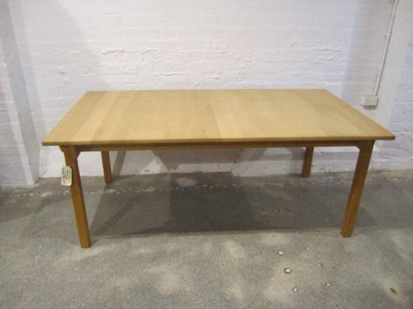 Kurt Ostervig Soaped Oak Dining Table Height 72 Cm Length 96 Scandinavi