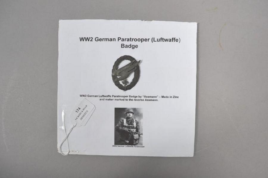 World War II German paratrooper (luftwaffe) badge - Medals