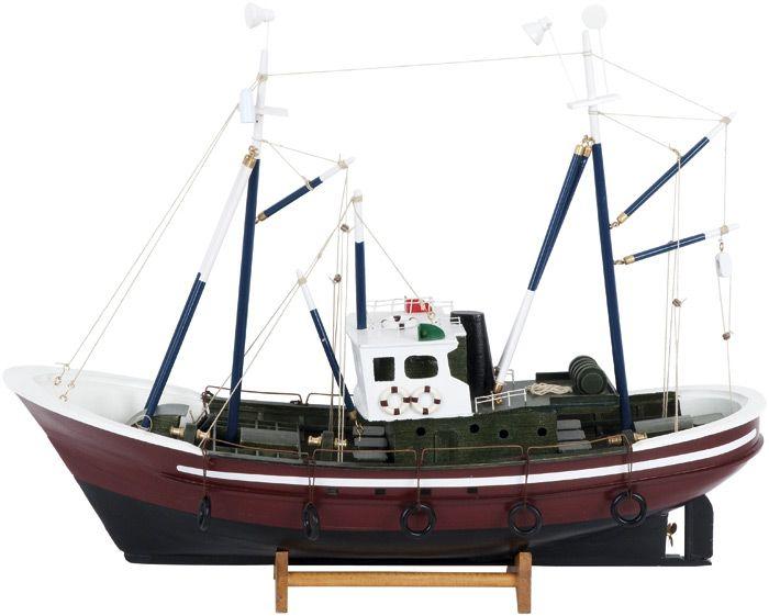 Model Ship Wooden Model Of A Vintage Fishing Trawler Boats