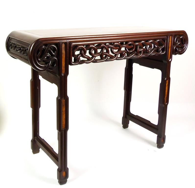 A Chinese Blackwood Altar Table Late Qing Dynasty Length