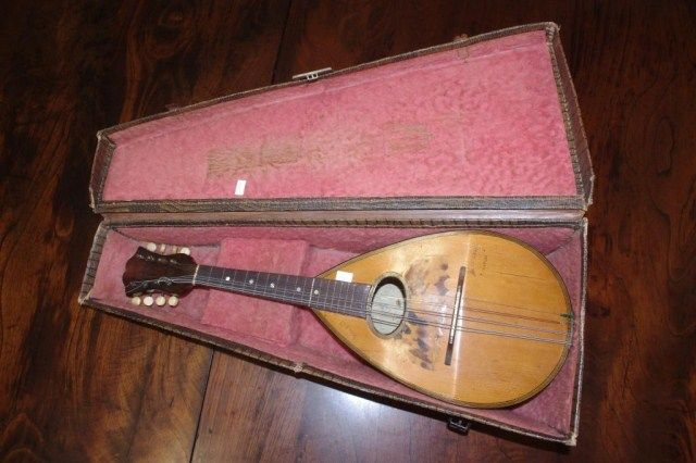 Antique mandolin in case, 'Hees & Co' - Musical Instruments