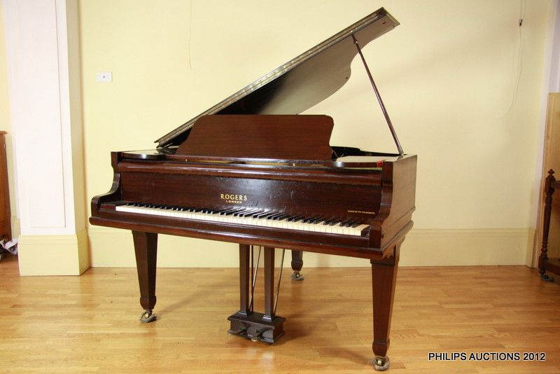 a baby grand piano george rogers sons london number 36934 musical instruments. Black Bedroom Furniture Sets. Home Design Ideas