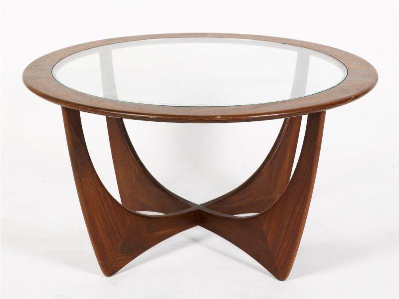 G. Plan, Astro coffee table, teak frame with fitted glass ...