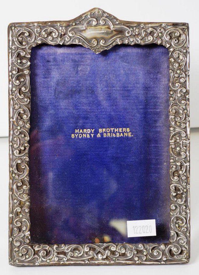 Vintage Sterling Silver Photo Frame Embossed Decoration 18 Cm