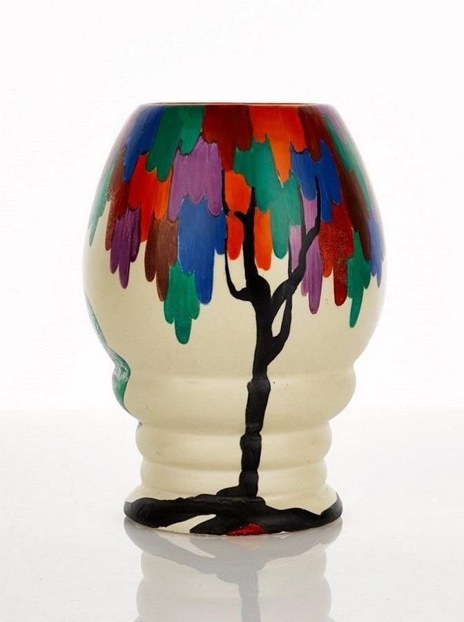 Clarice Cliff Bizarre Vase Latona Tree Pattern Shape 362