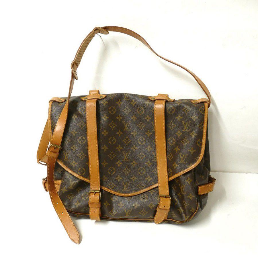 An authentic pre-owned Louis Vuitton Saumur 43 saddlebag a938f71cd1d8d