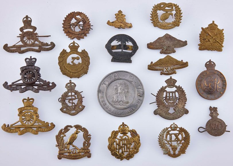 Assorted NZ Military badges  NZ Military badges collection