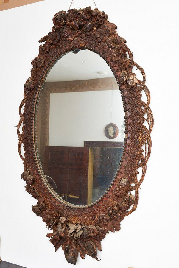 Victorian leatherwork mirror, New South Wales, c. 1880, of ...