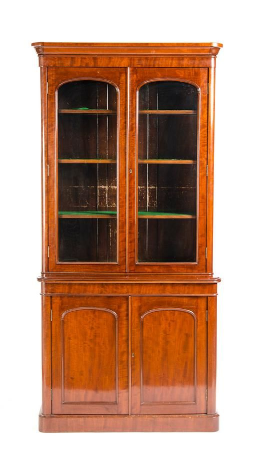Bookcase Victorian Mahogany With Arched Panel Doors