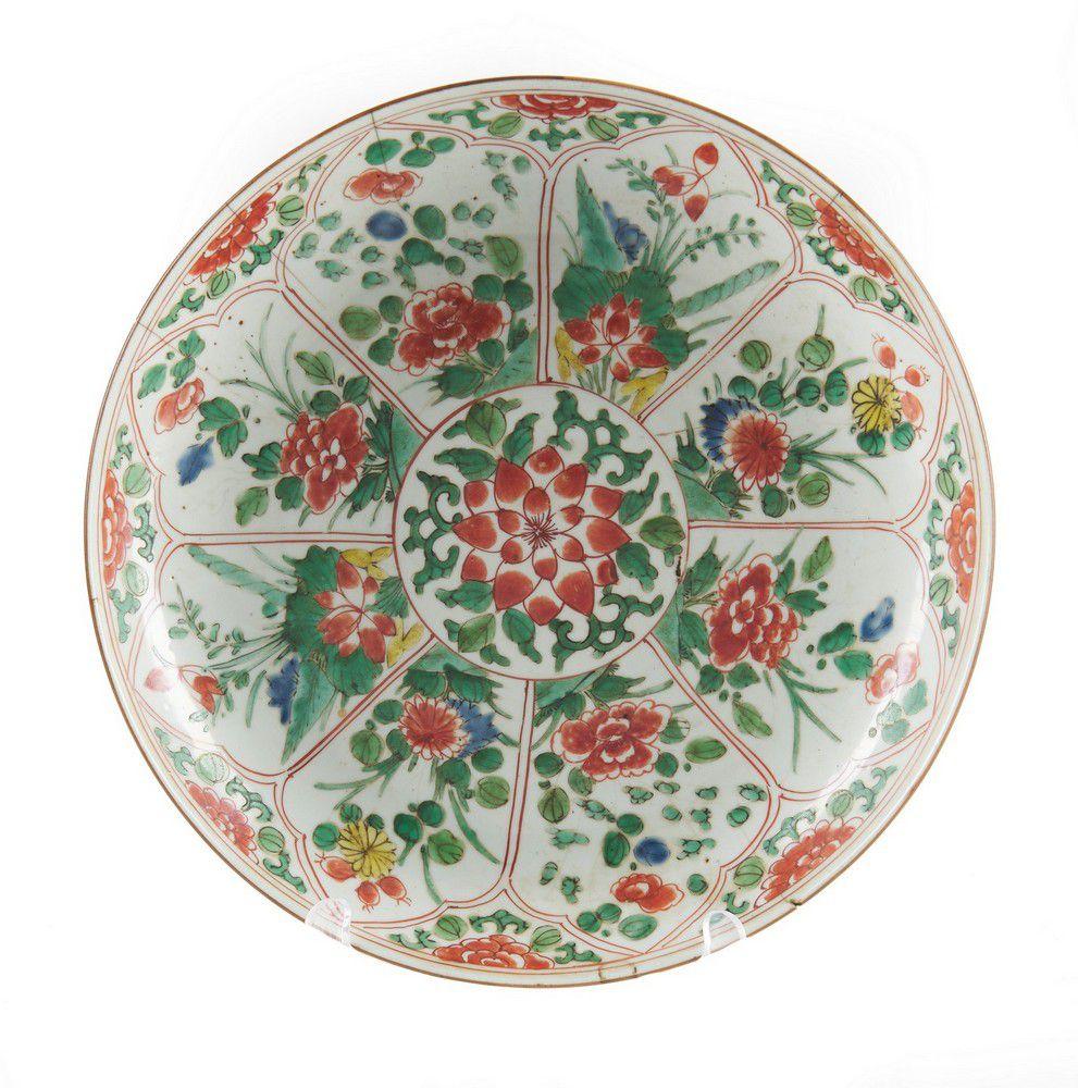 a large chinese wucai dish kangxi period 16611722
